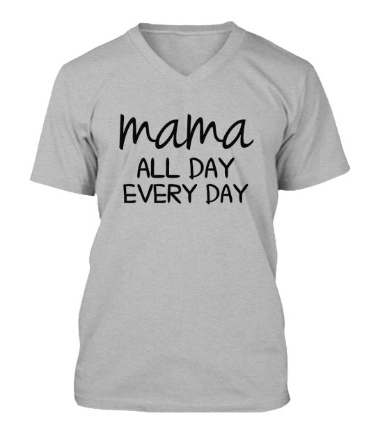 mama all day v neck
